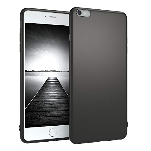 EAZY CASE Handyhülle Silikon mit Kameraschutz Apple iPhone 6 Plus/iPhone 6S Plus in schwarz matt, Ultra dünn, Slimcover, Silikonhülle, Hülle, Softcase, Backcover
