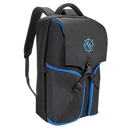 ENHANCE Universal Gaming Rucksack für Konsolen wie PS4 Pro, Xbox One & Computer Ausreichend Platz für Ihre Controller, Headsets, Spiele, Mäuse, Tastaturen & Zubehör - Essential Esports Gear - Blau