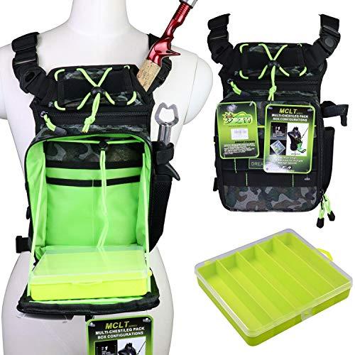 QualyQualy Angeltasche mit Angelboxen, Angeln Gerätetasche Angelzeug Tasche Rutentasche Rod Case Angelkoffer