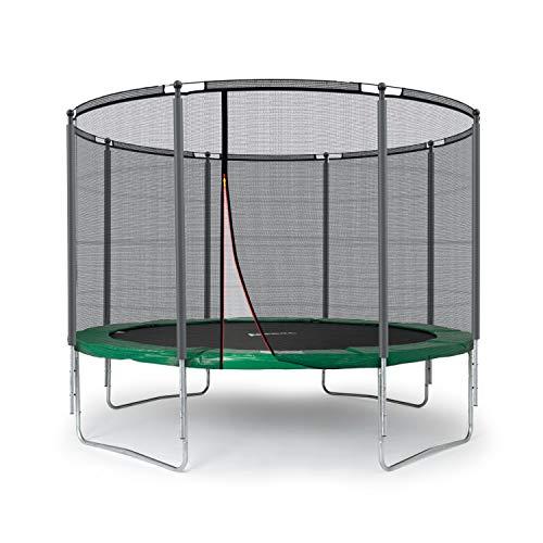 Ampel 24 Outdoor Trampolin 305 cm Grün   Komplett mit Außenliegendem Netz   Gartentrampolin mit 8 Gepolsterten Stangen   Sicherheitsnetz mit Stabilitätsring   Belastbarkeit 150 kg