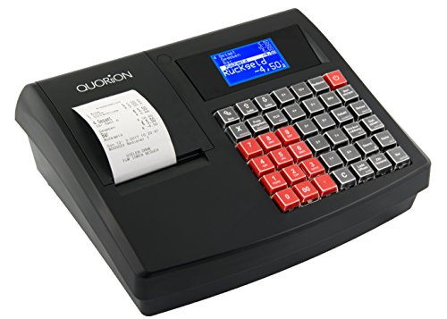 QUORiON Kassensystem QMP 18 (GoBD/GDPdU-konforme Registrierkasse mit Bondrucker inklusive Bon-Rolle, Micro-SD-Karte, programmierbarer Tastatur und Software für Einzelhandel, Friseur, Bäckereien)