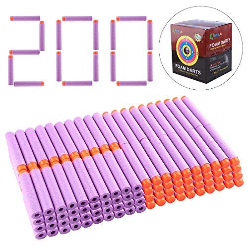 BOROK 200St. Schaumstoff Darts Pfeile Nachfüllpack Bullets Zubehör für Nerf Elite/Nerf Modulus/Nerf Rebelle/Nerf Zombie Strike