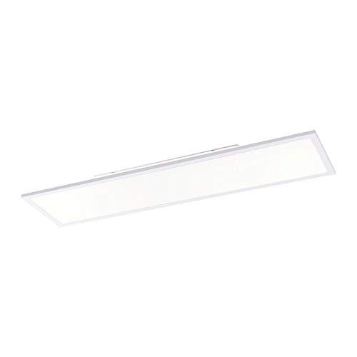 LED Panel flach, 120x30, dimmbare Decken-Lampe   Helligkeit mit Fernbedienung einstellbar, kaltweisses Licht   Decken-Leuchte für Büro, Wohnzimmer, Küche und Bad