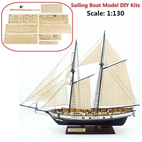 SAFETYON 1:130 Holzschiff Modelle DIY Schiffsmodell Kit Schiffbausatz Segelschiff Modellbausatz holz Segelboot Holzmodell Kit Spielzeug
