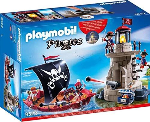 Playmobil 9522 - Piratenschiff und Soldatenturm mit Leuchtfeuer