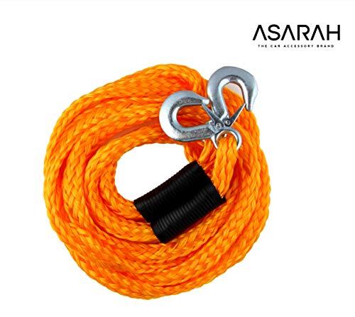 ASARAH elastische Auto Abschleppseil 4 m für alle gängigen KFZ bis 3,0 t, kompakt und Immer bereit für Ihre Sicherheit