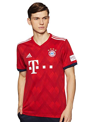 adidas Herren 18/19 FC Bayern Home Trikot, FCB True Strong red/White, M