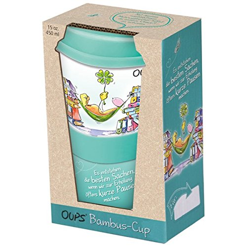 Oups Bambus-Cup - Es entstehen die besten Sachen, wenn wir zur Erholung öfters kurze Pausen machen