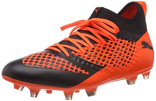 Puma Herren Future 2.3 Netfit FG/AG Fußballschuhe, Schwarz Black-Shocking Orange 02, 46 EU