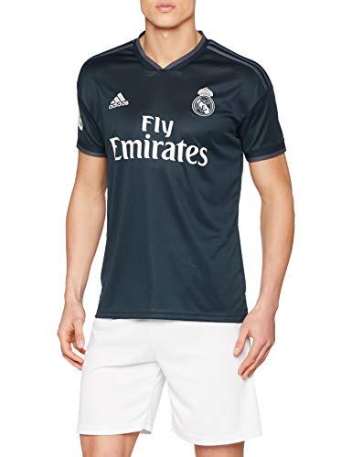 adidas Herren 18/19 Real Madrid Away with Lfp Badge Trikot, tech Onix/Bold Onix/White, M