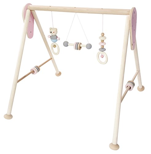 Hess Holzspielzeug 13382 - Babyspielgerät aus Holz, nature rosa, ca. 60 x 55 x 55 cm