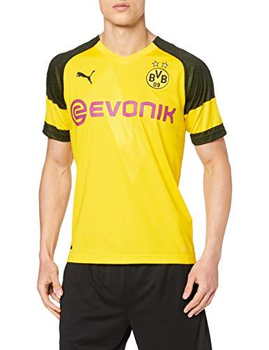 PUMA Unisex Erwachsene BVB Home Shirt Replica EVONIK with OPEL Logo Trikot Cyber Yellow, S