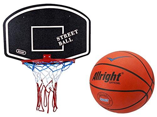 Basketballkorb mit Ball Basketball Korb Set Basketballspiel Manschaftssport schwarz-weiß