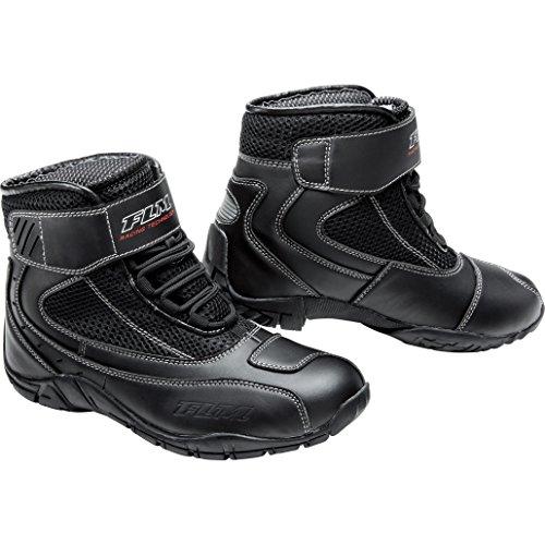 FLM Motorradschuhe, Motorradstiefel kurz Sommer Sport Textil Schuh 3.0 schwarz 42, Herren, Sportler