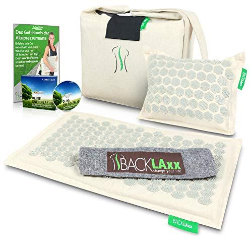 Akupressurmatte Set: Entspannung für den Rücken, Nacken, Schulter und Fuß