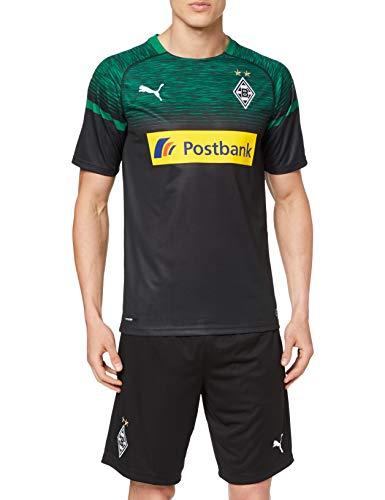 PUMA Herren BMG Away Replica with Sponsor Logo Trikot Black/Power Green, XL