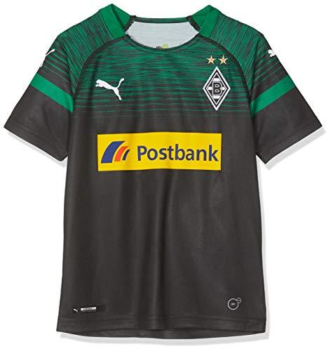 PUMA Kinder BMG Away Replica with Sponsor Logo Trikot, Black/Power Green, 140