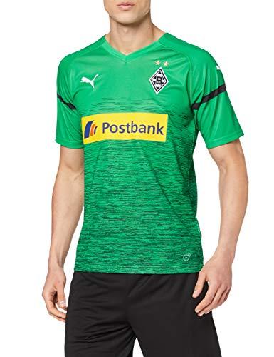 PUMA Herren BMG 3rd Shirt Replica with Sponsor Logo Trikot, Bright Green Black, M