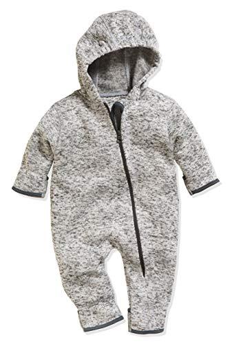 Playshoes Unisex Baby Strickfleece Overall Schneeanzug, (Grau 33), 74