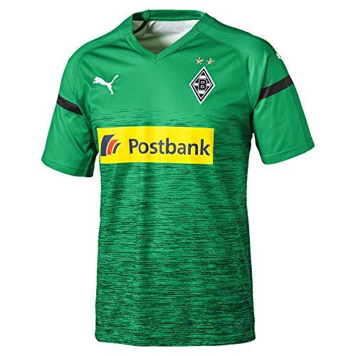 PUMA Herren BMG 3rd Shirt Replica with Sponsor Logo Trikot, Bright Green Black, S