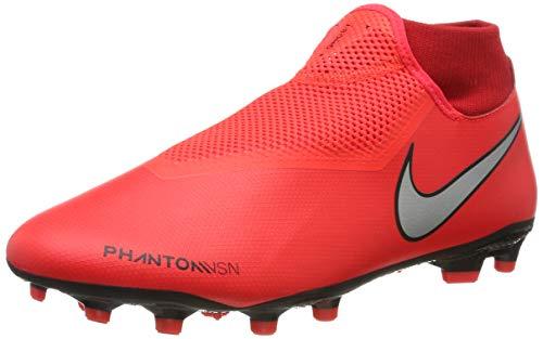 Nike Unisex-Erwachsene Phantom VSN Academy Dynamic Fit MG Fußballschuhe, Mehrfarbig (Bright Crimson/Metallic Silver 600), 43 EU