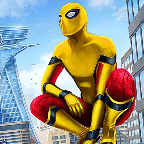 Super Hero Flying Spider Revenge Kampfsimulator 3D: Vegas Crime City Gangster Abenteuermission Spiele Kostenlos für Kinder 2018