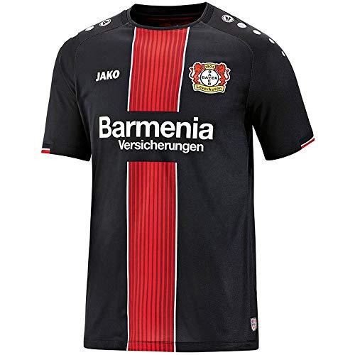 JAKO Herren 2018/2019 Bayer 04 Leverkusen Heimtrikot, schwarz/rot/weiß, XXL-56