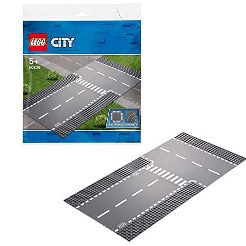 Lego 60236 City Gerade und T-Kreuzung, bunt