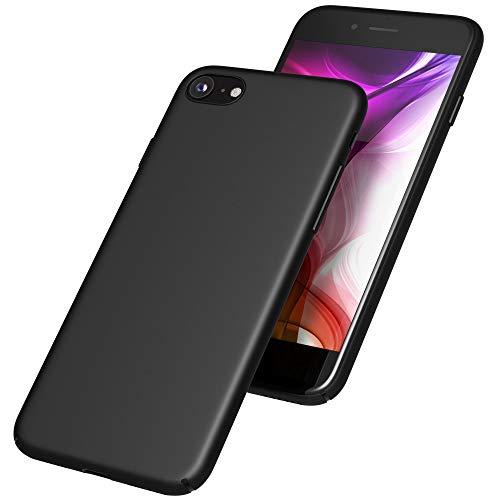 UTECTION Handyhülle Schwarz für Apple iPhone 7/8 Ultra Dünn Backcover ** SlimCase Schutz-Cover für Rückseite ** Hülle Case aus robustem Hartplastik Matte