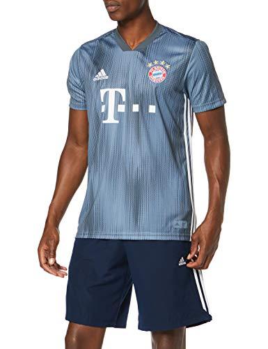 adidas Herren 18/19 FC Bayern 3rd Trikot, raw Steel/Utility Blue/White, 2XL