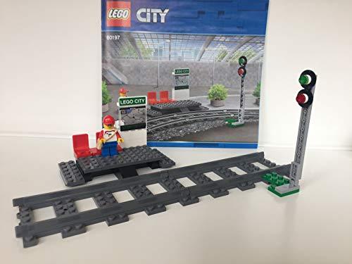 Lego ® City ™ Eisenbahn Bahnsteig und Signal, inkl. 2 gerade schienen (aus 60197)