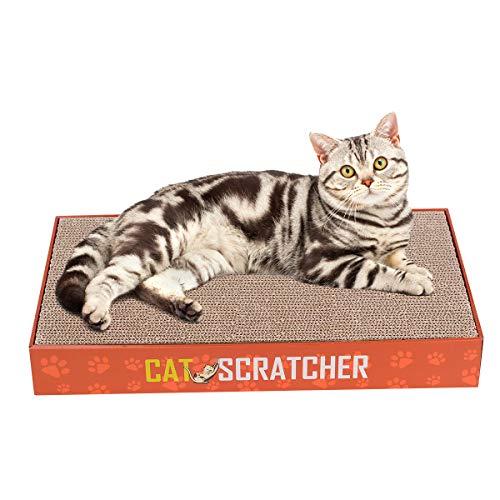 Aotletes Kratzbrett Pappe Katze Kratzlounge Kratzmöbel Kratzbett Kratzmöbeln aus Wellpappe Cat Lounge Scratch Board Katzenspielzeug Set mit 2 Stück Katzen Kratzbrett