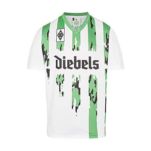 Score Draw Herren Retro - Trikot Borussia Mönchengladbach | Heimtrikot 1995 in Weiß, Größe: M