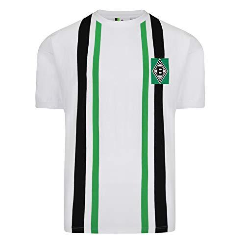 Score Draw Herren Retro - Trikot Borussia Mönchengladbach | Heimtrikot 1974 in Weiß, Größe: L