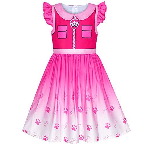 Mädchen Kleid Pfote Patrouillieren Skye Kostüm Halloween Party Gr. 110