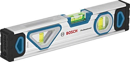 Bosch Professional 1600A016BN Wasserwaage 25 cm mit Magnet System (rundum ablesbar, Aluminium-Gehäuse, robuste Endkappen), magnetisch