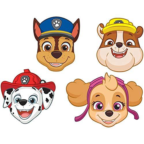 Amscan 9903839 - Masken Paw Patrol, 8 Stück, Papier, Hunde Masken