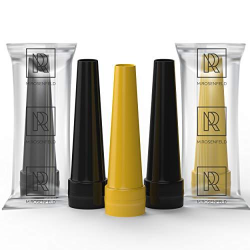 M. ROSENFELD Premium Shisha Hygienemundstück für Wasserpfeife | 100er-Pack Größe: L 55mm (schwarz Gold) | Shisha-Mundstücke Einweg bunt | Hygienemundstücke Hookah Mouth Tips
