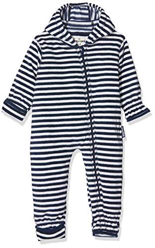 Playshoes Unisex Baby Schneeanzug Fleece-Overall Maritim, Blau (Marine/Weiß 171), (Herstellergröße: 92)