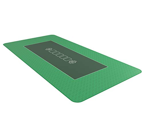 Bullets Playing Cards Profi Pokermatte grün in 140 x 75cm eigenen Pokertisch - Deluxe Pokertuch – Pokerteppich – Pokertischauflage