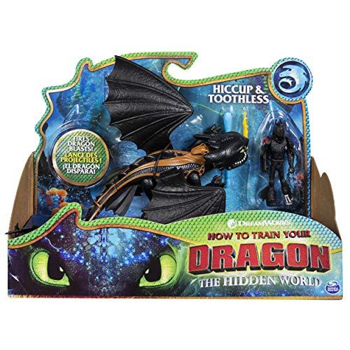 Dragons 6052275 - Movie Line Dragon & Vikings, Ohnezahn und Hicks (Solid), Actionfiguren Drache & Wikinger, Drachenzähmen leicht gemacht 3, Die geheime Welt