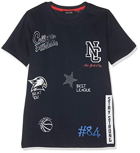 Blue Seven Jungen T-Shirt, Rundhals, (Dk Blau 574), (Herstellergröße: 152)
