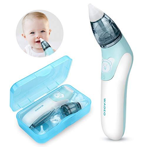 Baby nasensauger elektrisch WADEO Nasal Aspirator Lebensmittelqualität Weiches Silikon Waschbar Wiederverwendbar Schnell den Nasenschleim des Babys entfernen Nasensauger für Kinder