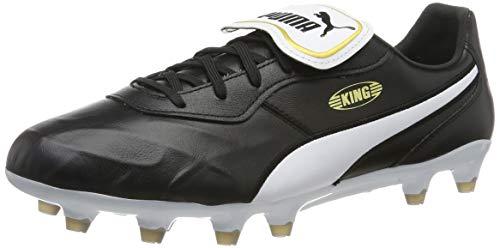 PUMA Unisex KING Top FG Botas de fútbol, Black White, 46.5 EU