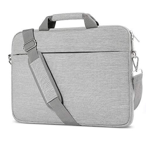 AtailorBird Laptophülle, Laptoptasche 15-15,6 Zoll mit Schulterriemen&Gepäckgurt,15,6 Zoll Tragbar Notebooktasche kompatibel PC Laptop Schutztasche Asus Dell Fujitsu Lenovo HP Toshiba (Grau)