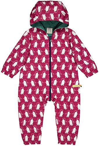 loud + proud Baby-Unisex Wasserabweisender Overall Aus Bio Baumwolle, GOTS Zertifiziert Schneeanzug, Rosa (Berry Ber), 56 (Herstellergröße: 50/56)