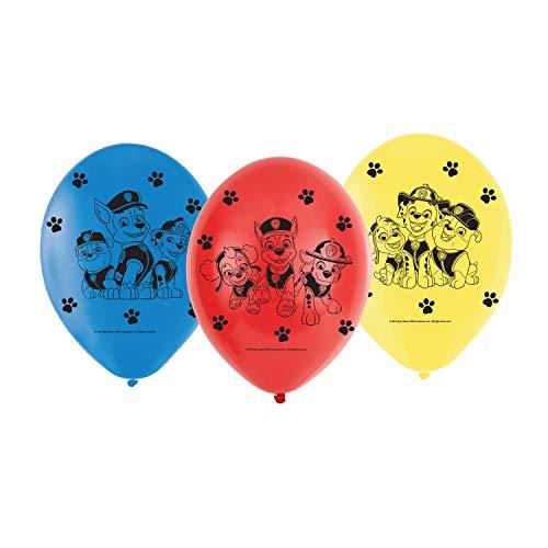amscan 9903825 6 Latexballons Paw Patrol, Rot, Blau, Gelb