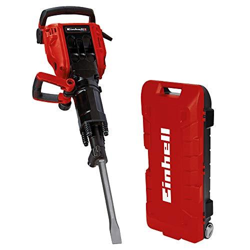 Einhell Abbruchhammer TE-DH 50 (1.700 W, 50 J Einzelschlagstärke, SDS-Hex-Werkzeugaufnahme, schwingungsgedämpfter Hauptgriff, Softstart, inkl. Spitz-/Flachmeißel, Trolley)