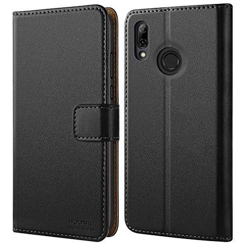 HOOMIL Handyhülle für Huawei P Smart 2019 Hülle, Premium Leder Flip Schutzhülle für Huawei P Smart 2019 Tasche, Schwarz