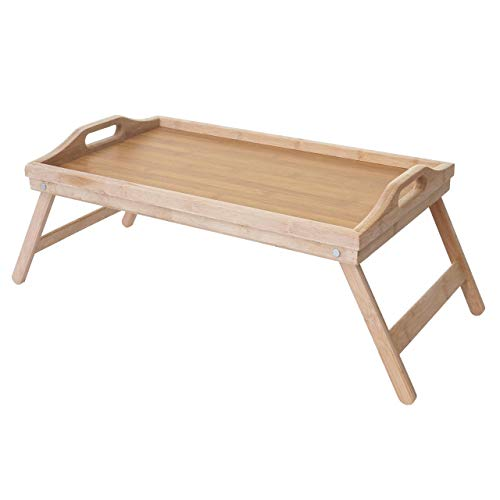 Mendler Tablett HWC-B88, Serviertablett Holztablett Frühstückstablett Dekotablett, Bambus 21x64x30cm
